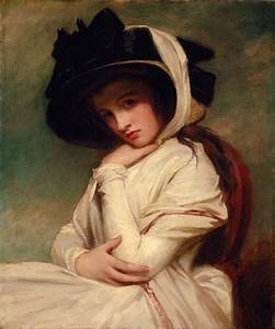 1782-1784 Emma Hart in a Straw Hat by George Romney ...
