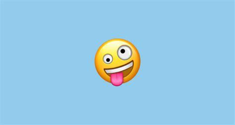 zany face emoji  apple ios