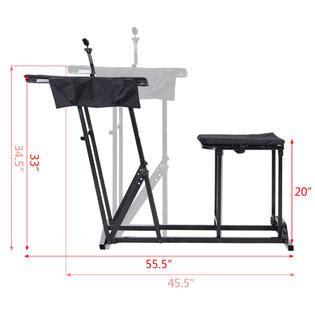 goplus folding shooting bench seat  adjustable table