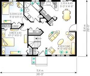 2 bedroom cottage plans 2 bedroom cottage house plan 2182dr 1st floor master suite cad available canadian country