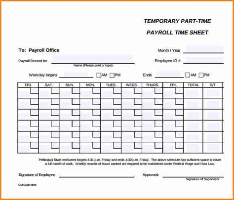 Time Sheet Template For All Employees Word by 5 Payroll Timesheet Template Simple Salary Slip