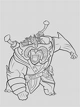 Trollhunters Coloring sketch template