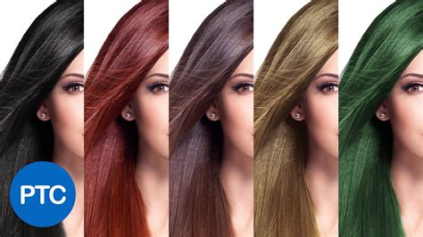 change hair color  photoshop including black