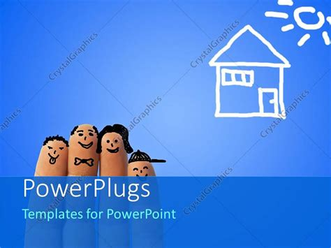 powerpoint template ironic portrait   family