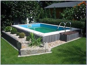pool garten selber bauen hauptdesign With französischer balkon mit pool garten intex