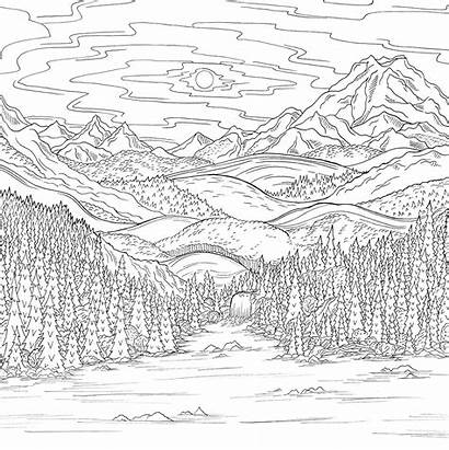 Pages Coloring Debbie Macomber Scene Mountains Behance