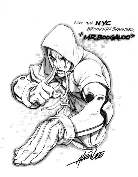 fightin game character concept  alvinlee  deviantart