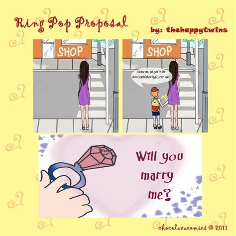 chocolava comicscom ring pop proposal
