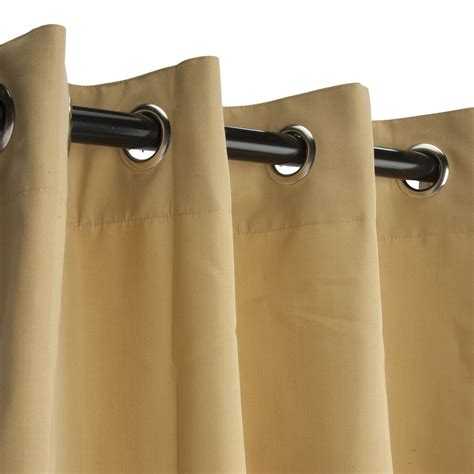 wheat sunbrella nickel grommeted outdoor curtain 120 quot