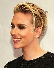 Scarlett Johansson Short Hair Back