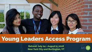 The MCW Young Leaders Access Program 2018