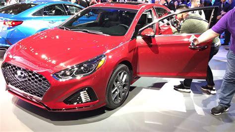 New York Auto Show 2018 by New Of The 2018 Hyundai Sonata At New York Auto