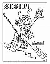 Spider Ham Draw Marvel Comics Coloring Drawing Verse Pages Colouring Into Too Spiderman Peter Porker Drawittoo Tutorial Super Characters Books sketch template