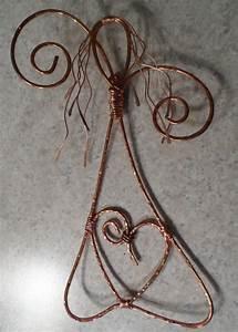 Copper Wire Art Angel Rustic Angel Hammered Metal Angel