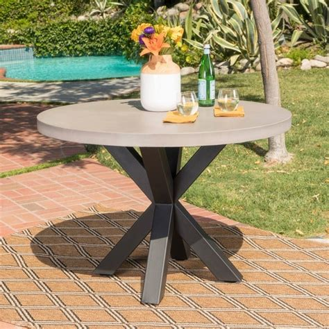 teague outdoor  light weight concrete dining table