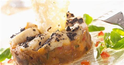 cuisiner les st jacques recette rosace de st jacques aux truffes et confit d