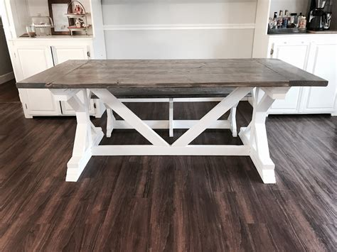 tone weathered gray  farmhouse table  benches