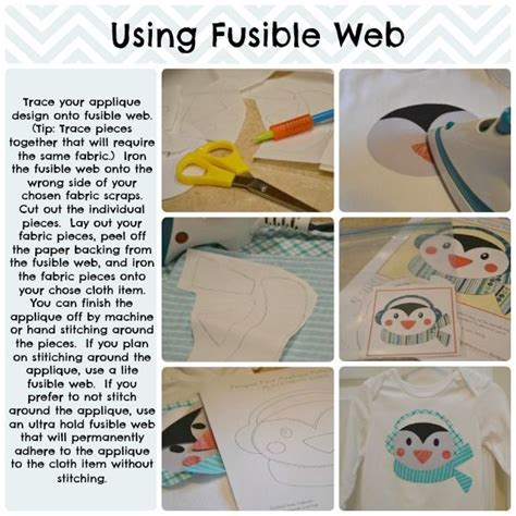 fusible web how to applique using fusible web sewing pinterest