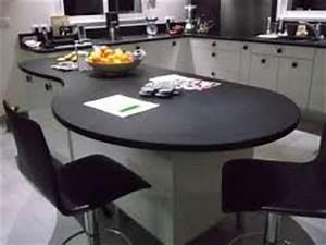 plan de travail cuisine stratifie arrondi recherche With plan de travail arrondi cuisine