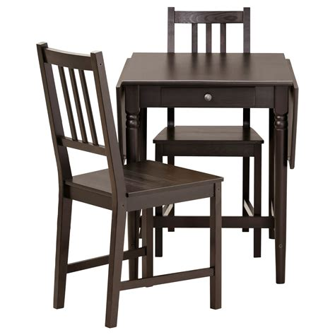 ikea tables cuisine ingatorp stefan table and 2 chairs black brown 59 cm ikea