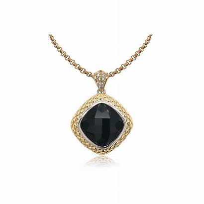 18k Timeless Diamonds Gold Onyx Eden Pendant