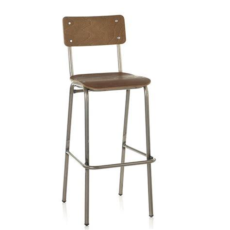 chaise haute de bar chaise haute de bar d 39 esprit vintage bois teinte bois formica ou imprime cbc 1099 one mobilier