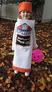 Cool Homemade Elmer's Glue Stick Costume for a Girl ...