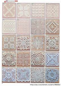 Lots Of Free Crochet Squares  Motifs  Diagram Patterns
