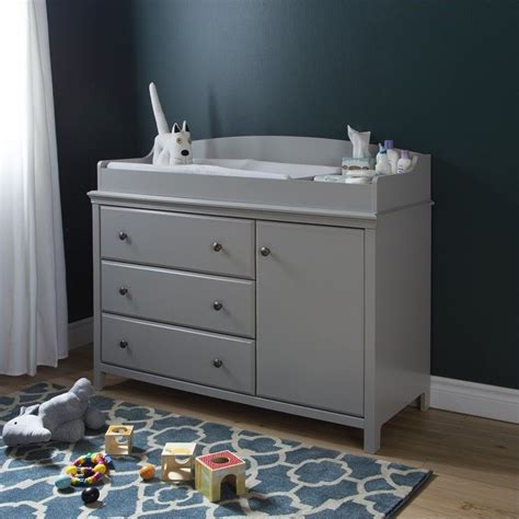 grey changing table with drawers south shore cotton candy gray baby changing table ebay