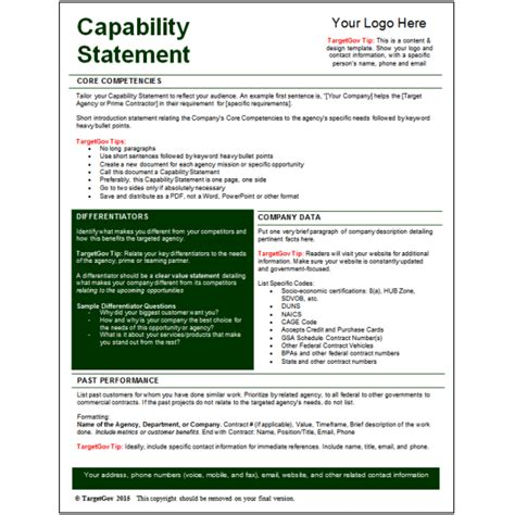 Capabilities Statement Template by Business Capability Statement Pictures To Pin On