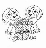 Popcorn Coloring Dog Pages Printable Eating Dogs Sheets Cute Puppy Animal Science Kernel Sheet Eat Printables Box Trees Getdrawings Drawing sketch template