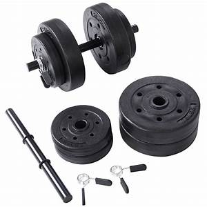 Goplus Weight Dumbbell Set 40 Lb Adjustable Cap Gym Barbell Plates Body Workout