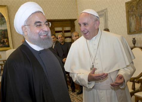 iran president hassan rouhani asks pope francis  pray