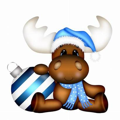 Moose Clipart Holiday Animals Clip Cards Tree