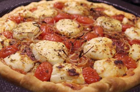 tarte courgette ch 232 vre chorizo tomates