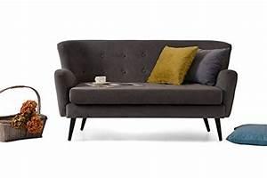Retro Sofa 2 Sitzer : retro vintage 2er 2 sitzer couch sofa garnitur bambi 155 x 83 x 83 cm in dunkelgrau m bel24 ~ Bigdaddyawards.com Haus und Dekorationen