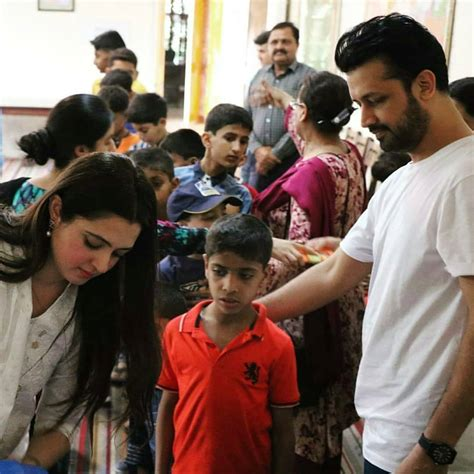 atif aslam   wife spent  day  sos childrens