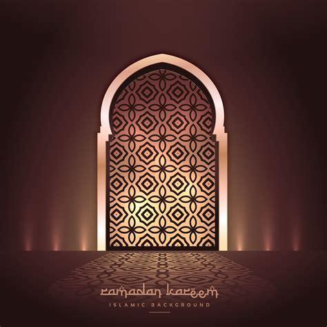 beautiful mosque door  lights  pattern design