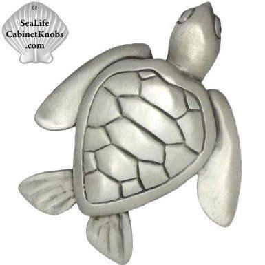 sea life cabinet knobs sea turtle knob model 105 turtle designer pewter