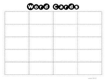 card sorting template word sorting mat card template by msjordanreads tpt