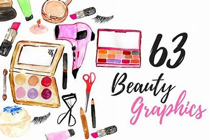 Makeup Clipart Watercolor Thehungryjpeg