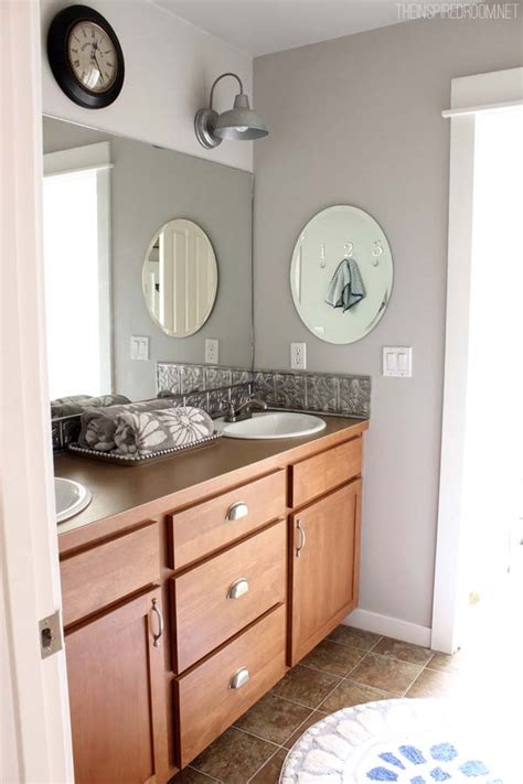 Bathroom Makeover {diy Weekend Refresh}  The Inspired Room
