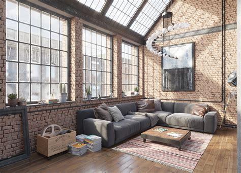 scandinavian style sofas industrial loft interior designio