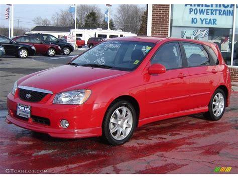 2006 Radiant Red Kia Spectra Spectra5 Hatchback #25500932