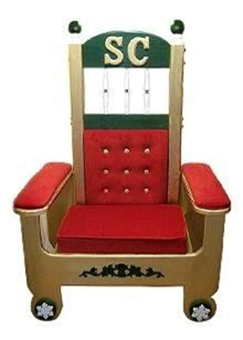 couch for claus folding portable chair santa thrones