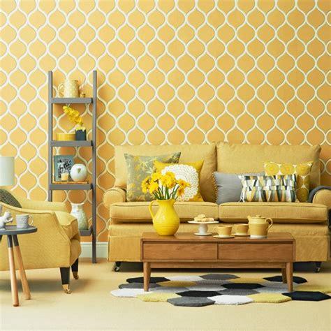bright yellow living room housetohomecouk