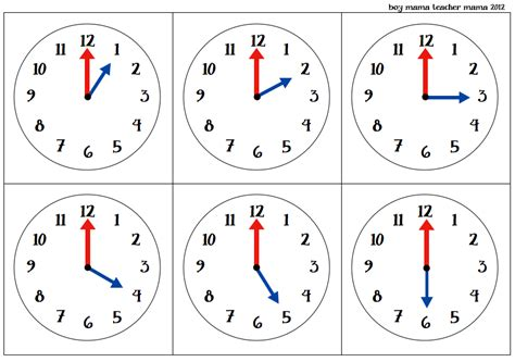 timecard hours teacher mama o 39 clock cards games for teaching time to
