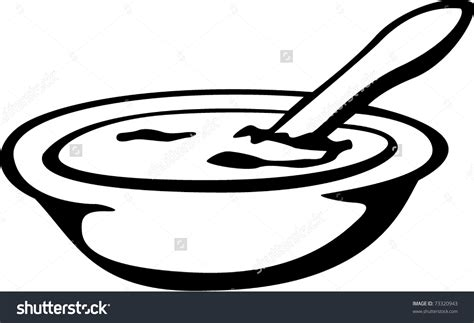 food spoon bowl food clipart black and white - Clipground