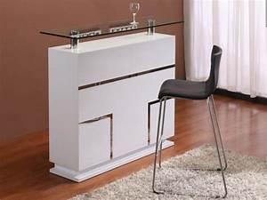 Kleine Bar Für Zuhause : meuble de bar luminescence mdf laqu blanc leds ~ Bigdaddyawards.com Haus und Dekorationen
