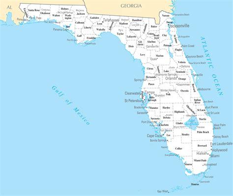 florida cities  towns mapsofnet